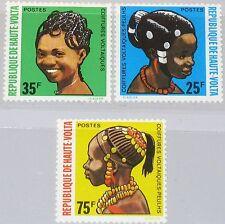 UPPER VOLTA OBERVOLTA 1972 374-76 272-74 Various Hair Styles Frisuren Haar MNH