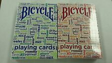 Bicycle Table Talk Deck Playing Cards - One Blue Deck Brand New Sealed