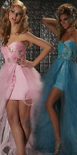 New MAC DUGGAL 85015 Pink Hi-Low Prom Pageant Sweet 16 Evening Dress Size 4