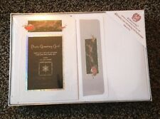 "Burgoyne Fine Christmas Greeting Cards~Holds photo 3 1/2x5 or 4x6"" photo box/40"
