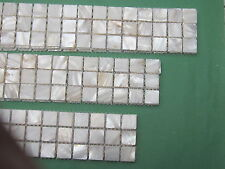 Mother Of Pearl wall tiles strip border Natural 30 x 6 cm  20 mm square chips