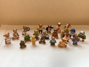 Vintage TEDDY IN MY POCKET Bears x21 Figures Sport Picnic Babies MEG 1990's