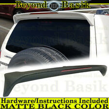 2001-2006 Mitsubishi MONTERO MATTE BLACK Factory Style Spoiler Rear Wing W/LIGHT