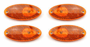 ACE Milano 4 LED Amber Side Marker light/lamps Fiat Ducato Motorhome upgrade kit