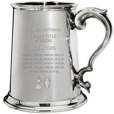 More details for liverpool 1st division and premiership titles 1pt pewter tankard football