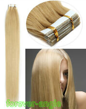 7A Grade Indian Remy Human Hair Extensions Tape in Skin Weft Hair 16''-20'' USA