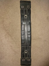 NEW QUALITY ENGLISH LEATHER DRESSAGE GIRTH BLACK 24""