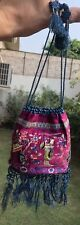 Antique-Chinese Qing Dynasty Hand Embroidery Figurative Wedding Purse+ Pooch