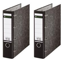 2 x Leitz Doppelordner 1092 schwarz 2 x DIN A5 quer 75mm für Kontoauszüge