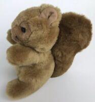 """Vintage Squirrel Stuffed Animal 1988 Lemonwood Asia LTD. 9"""" Brown Plush Big Tail"""