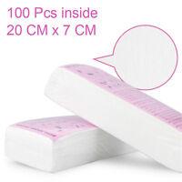 100X Non-woven Hair Removal Paper Depilatory Wax Strips Epilator Waxing Tools D