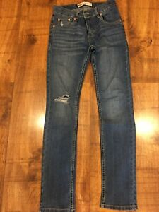 Boys LEVIS 510 Skinny fit Denim Blue Jeans Age 14 YEARS Worn Once
