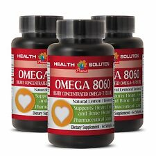 Fish Oil Capsules - OMEGA 8060 1500MG - Third Party Tested Brain Booster - 3Bot