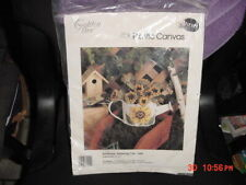 Golden Bee SUNFLOWER WATERING CAN  Cross Stitch Kit NEW PLASTIC CANVAS