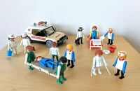 Vintage Playmobil Hospital Medical Bundle Doctor's Emergency Car  Geobra  1976