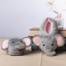Elephant Plush Kids Slippers Soft Indoor Winter Warm Children Cotton Home Shoes