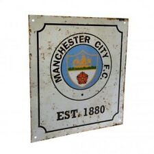 Manchester City Football Club Retro Logo Metal Sign with Free UK P&P