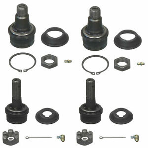 🔥Moog 2 Upper & 2 Lower Ball Joints For Ford F-250 Super Duty 4x4 4WD🔥