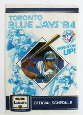 1984 TORONTO BLUE JAYS POCKET SCHEDULE
