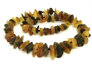 AMBER NECKLACE Natural BALTIC AMBER Healing Untreated Unpolished Beads 25g 15450