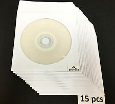 15 HP DVD-R  4.7GB 16X 120 Min DVDR Recordable White Inkjet Printable in Sleeves