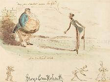 GEORGE CRUIKSHANK BRITISH UNKIND WISH OLD ART PAINTING POSTER PRINT BB5442A