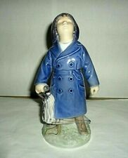 Vintage Royal Copenhagen Boy With Umbrella # 3556 Priced To Sell Beautiful Piece