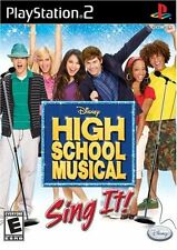 High School Musical: Sing It [PlayStation 2 PS2, NTSC Video Game] NEW