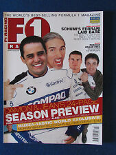 F1 Racing Magazine - March 2002- Hill-Alesi-Coulthard-Montoya Cover -Formula One