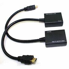 HDMI Over RJ45 CAT5e CAT6 UTP LAN Ethernet Balun Extender Repeater - 1080p 3D US