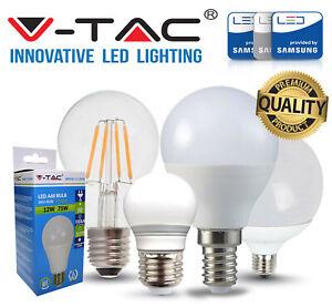 LAMPADINE LED V-Tac E27 3W a 24W LAMPADA SFERA GLOBO BULBO DIMMER VTAC