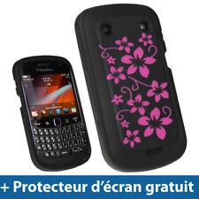 Étuis, housses et coques noirs en silicone, caoutchouc, gel pour téléphone mobile et assistant personnel (PDA) Blackberry