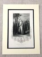 1854 Antico Stampa Irlandese King Brian Boru Storia Di Irlanda Eire Incisione