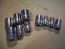 "Kobalt Socket Assortment Lot of 10pc. 3/8"" Drive Sae & Mm"