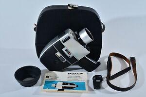 Bauer C2M Super 8 Movie Film Camera w/ Schneider Variogon Lens & Case