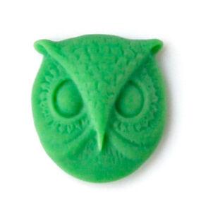 Green Owl Lapel Pin