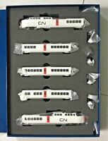 RAPIDO 1/160 N SCALE CANADIAN NATIONAL TURBO TRAIN 5 CAR SET DC/DCC SOUND 520505