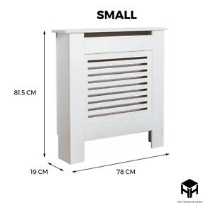 SMALL Radiator Cover White Modern Traditional Wood Grill Horizontal Vertical