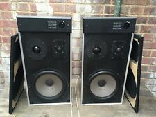 Vintage Salora KS 330 Hi Fi Speakers 55w Watt 4 Ohms Tweeter Level +-5DB 1976-78