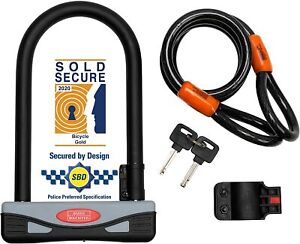 Burg Wachter 272S 17 x 21 cm Secure Gold Aproved Universal D Lock - Grey/Black