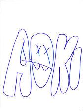 DJ STEVE AOKI SIGNED AUTHENTIC HAND DRAWN ORIGINAL SKETCH B w/COA EDM PROOF
