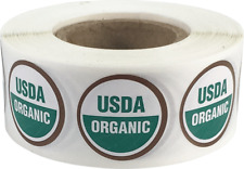 USDA Organic Labels 3/4 Inch Round Circle Dots 500 Adhesive Stickers