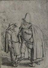 Adriaen Jansz Van Ostade Dutch 1610-1685 Etching 3 Grotesque Figures