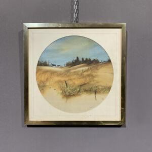 Antico Olio su tela Loch Ard. Scotland epoca XX secolo George Spence