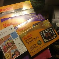 KODAK picture paper, ultima, premium, HP, inkjet printer paper lot, FREE SHIP