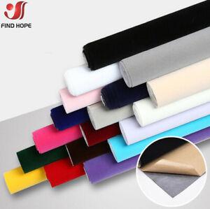 Sticky Back Self Adhesive Sheet Felt Velvet Velour Fabric Craft Sticker 40x150cm