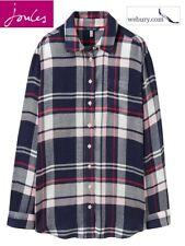 Joules Laurel Ladies 'Boyfriend Style' Longline Shirt Navy Multi Check UK 8-16