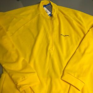 Canari Cycling Jersey paceline Long SLeeve LARGE MENs YELLOW
