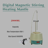 2000mlFAITHFUL  Digital Heating Mantle with Magnetic Stirrer 842℉ 450W 0-1400prm