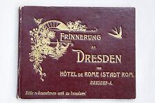Dresden:Buch-Rarität,Unikat?Erinnerung an Dresden vom Hotel de Rome (Stadt Rom)